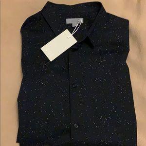 COS black speckled sportshirt